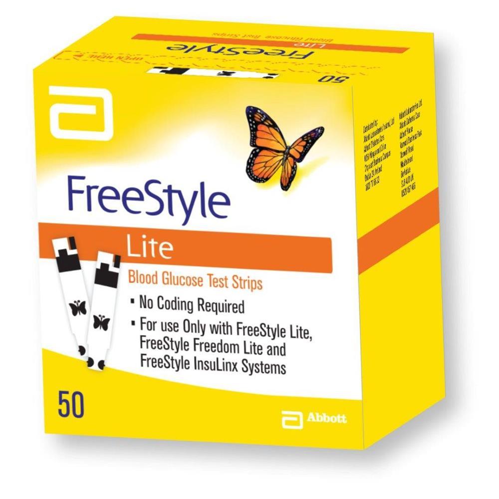 Free style lite test strips